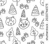 seamless pattern in...   Shutterstock .eps vector #2020746575