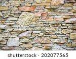 artistic sandstone wall texture ... | Shutterstock . vector #202077565