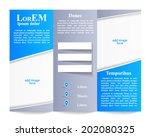 tri fold brochure template | Shutterstock .eps vector #202080325