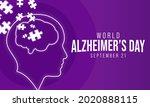world alzheimer's day is... | Shutterstock .eps vector #2020888115