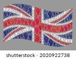 mosaic waving united kingdom... | Shutterstock .eps vector #2020922738