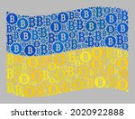 mosaic bitcoin waving ukraine... | Shutterstock .eps vector #2020922888