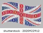 mosaic bitcoin waving united... | Shutterstock .eps vector #2020922912