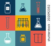 chemical tubes icons set.... | Shutterstock .eps vector #202092352