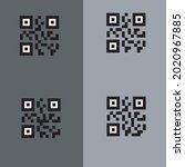 black scan me icon vector set...