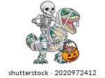 best funny mummy dinosaur for... | Shutterstock .eps vector #2020972412