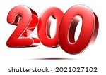 Rounded Red Numbers 200 On...