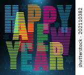 happy new year. bright festive... | Shutterstock .eps vector #202110382