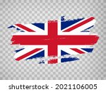 flag of great britain  brush...