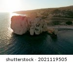 Coast Of Cyprus At Sunset In...