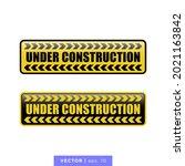 under construction icon vector...   Shutterstock .eps vector #2021163842