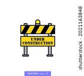 under construction icon vector...   Shutterstock .eps vector #2021163848