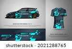 sport racing car wrap and t... | Shutterstock .eps vector #2021288765