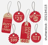 price tags vector | Shutterstock .eps vector #202134115