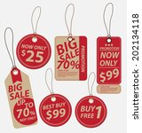 price tags vector | Shutterstock .eps vector #202134118