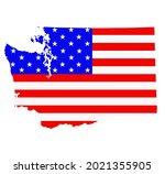 washington state map vector...   Shutterstock .eps vector #2021355905