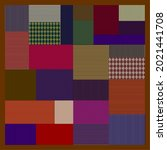 abstract line pattern of scarf. ...   Shutterstock .eps vector #2021441708