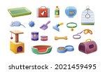 pet shop vet store set.... | Shutterstock .eps vector #2021459495
