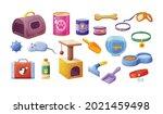 pet shop vet store set.... | Shutterstock .eps vector #2021459498