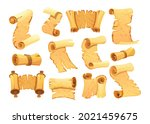 set of old paper scroll....   Shutterstock .eps vector #2021459675