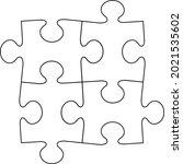 jigsaw puzzle piece flat vector ...   Shutterstock .eps vector #2021535602