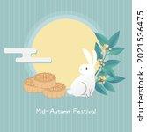 mid autumn festival card....   Shutterstock .eps vector #2021536475