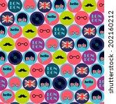 Cool Pop Art English Pattern