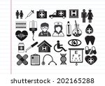 medical icons   Shutterstock .eps vector #202165288