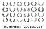 laurel wreath award or heraldry ... | Shutterstock .eps vector #2021667215