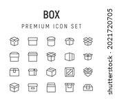 premium pack of box line icons. ...