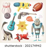 set of toys for children and... | Shutterstock .eps vector #202174942
