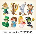 set of cartoon toy personages... | Shutterstock .eps vector #202174945