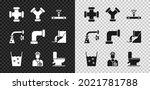 set industry metallic pipe  and ...   Shutterstock .eps vector #2021781788