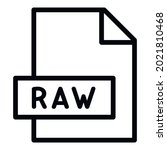 raw file icon. outline raw file ... | Shutterstock .eps vector #2021810468