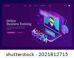 online business training... | Shutterstock .eps vector #2021812715