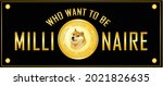 dogecoin crypto currency banner ...   Shutterstock .eps vector #2021826635