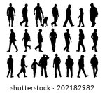 big set of black silhouettes of ... | Shutterstock . vector #202182982
