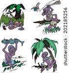 Comic African Aborigines...