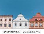 houses in telc  old town in...   Shutterstock . vector #2021863748