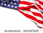 american flag on white... | Shutterstock . vector #202187635