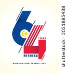 31 august   malaysia... | Shutterstock .eps vector #2021885438