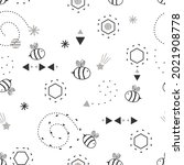 Seamless Pattern With Bee...