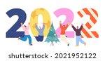 new year 2022 celebrating.... | Shutterstock .eps vector #2021952122