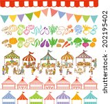 market place illustrations and... | Shutterstock .eps vector #202195402