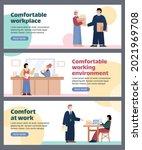 comfortable working environment ...   Shutterstock .eps vector #2021969708