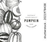 pumpkin design template. vector ...   Shutterstock .eps vector #2021978438