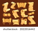 set of old paper scroll....   Shutterstock .eps vector #2022016442