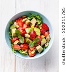 Lettuce Salad With Avocado And...