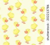 duck seamless pattern | Shutterstock .eps vector #202213786