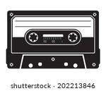 cassette tape | Shutterstock .eps vector #202213846